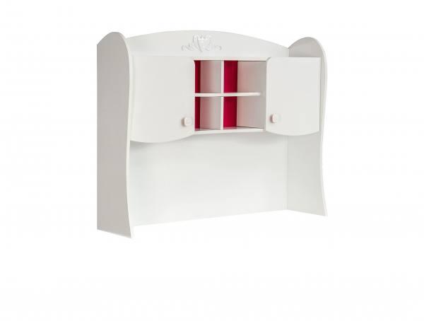 AUFSATZ für Schreibtisch SWEETY weiß, rot