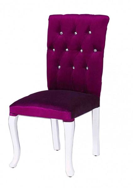 Stuhl PRINCESS lila gepolstert