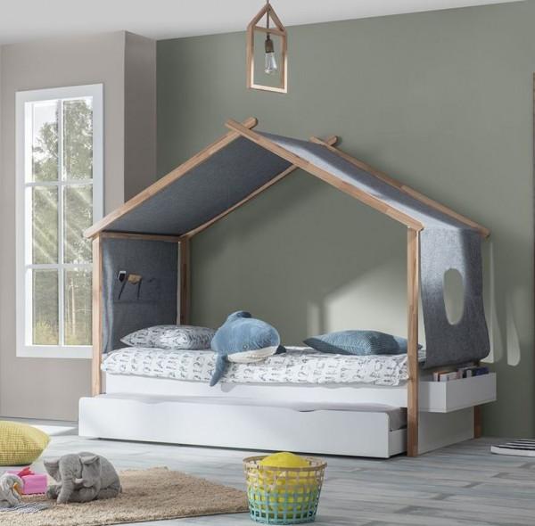 SPAR-SET4 Kinderbett HOUSE mit Bettschubkasten, 90x200cm