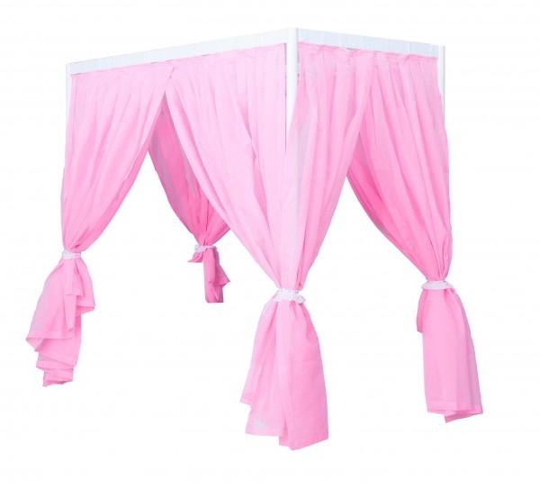 Cindy Fairytale Vorhangstoff für Himmelbett mit Gestell rosa