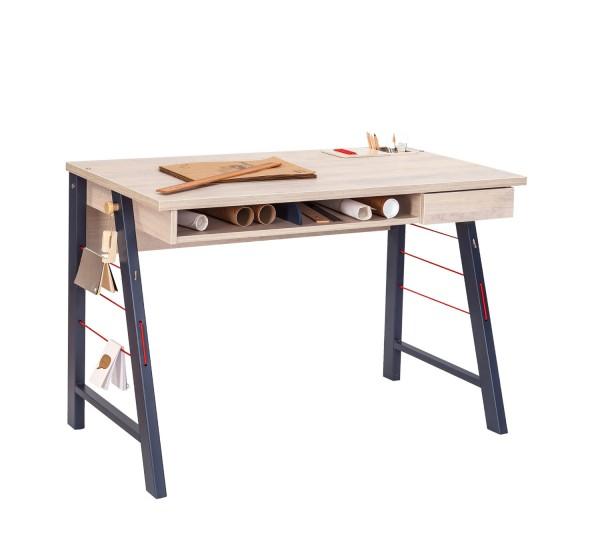 Schreibtisch TRINO M Naturholzbraun - 114 cm breit