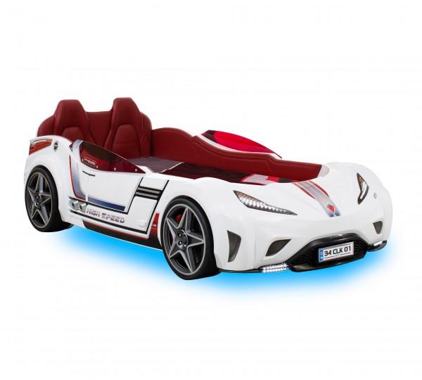 ANGEBOT Autobett GTI RACER weiß mit Matratze
