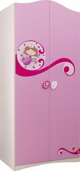 """Kleiderschrank 2-türig """"Princess"""" pink"""