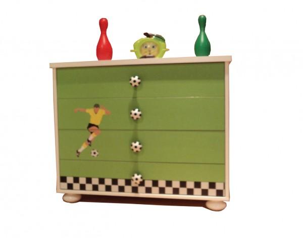 FOOTBALL Wäschekommode grün