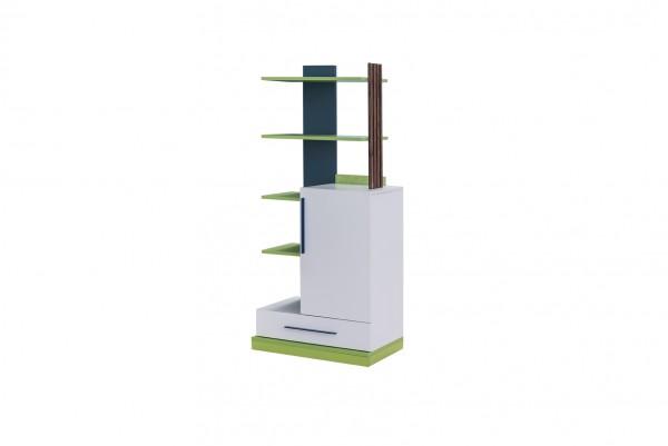 Bücherregal LEGEND weiss/grün