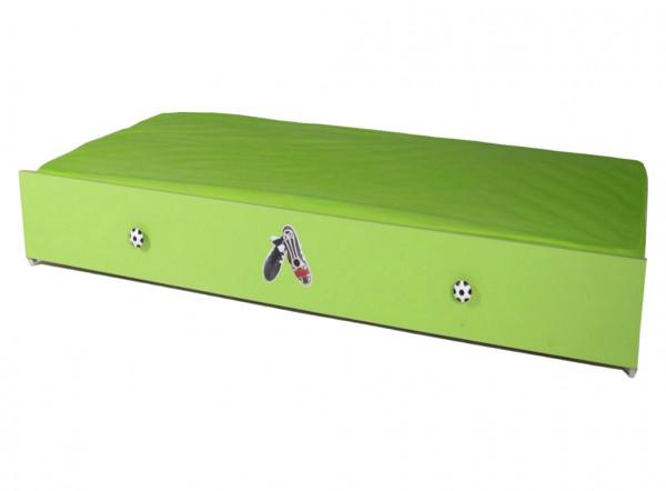 FOOTBALL Bettschubkasten 90x190cm grün