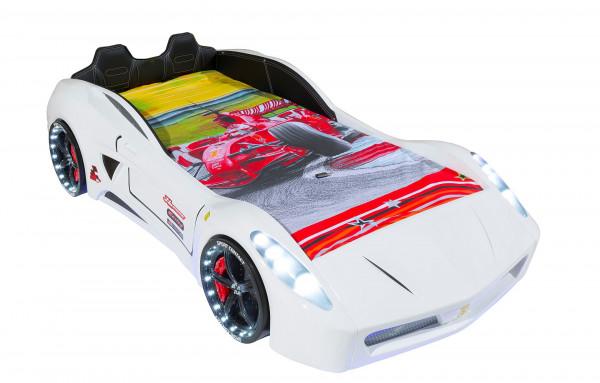 Autobett TURBO V7 SPORT 2 weiss | + Sportpack ✓ | + Matratze ✓