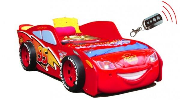 CARS Autobett mit SOUND & Funkfernbedienung